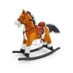 Hojdací koník s melódiou Milly Mally Mustang svetlo hnedý
