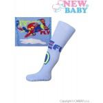 Bavlnené pančucháčky New Baby s ABS modré fly
