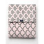 Detská bavlnená deka so vzorom Womar 75x100 ružovo-sivá