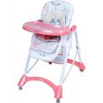 Jedálenská stolička Baby Mix pink