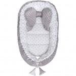 Hniezdočko pre bábätko Minky Sweet Baby Belisima sivé