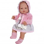 Luxusná detská bábika-bábätko Berbesa Amanda 43cm