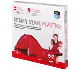 Detský stan PlayTo Lienka s tunelom červený