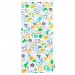 Bavlnená plienka s potlačou New Baby biela geometrické tvary