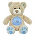 Plyšový zaspávačik medvedík s projektorom Baby Mix modrý