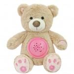 Plyšový zaspávačik medvedík s projektorom Baby Mix ružový