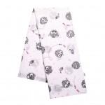 Bavlnená plienka s potlačou New Baby biela sova HUU rúžová