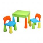 Detská sada stolček a dve stoličky NEW BABY multi color