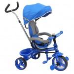 Detská trojkolka Baby Mix Ecotrike s bezpečnostnými pásmi light blue