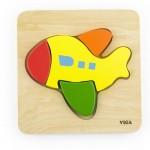 Drevené puzzle pre najmenších Viga Lietadlo