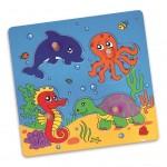 Detské drevené puzzle s úchytmi Viga More