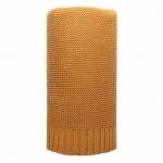 Bambusová pletená deka NEW BABY 100x80 cm horčicová