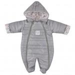 Zimná dojčenská kombinéza Koala Pumi dievča sivá