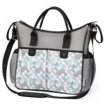 Štýlová taška na kočík BASIC SO CITY Baby Ono sivo tyrkysová