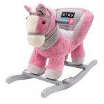 Hojdacia hračka s melódiou PlayTo rúžový koník