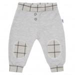 Dojčenské bavlnené tepláčky New Baby Cool sivé