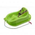 Plastové sánky s operadlom BAYO MINI zelené