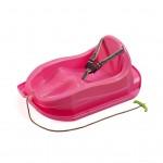 Plastové sánky s operadlom BAYO MINI ružové