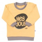 Dojčenské tričko New Baby With Love horčicové