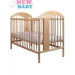 Detská postieľka New Baby Adam - prírodná
