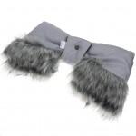 Rukávník na kočiar 2v1 New Baby s kožušinkou grey