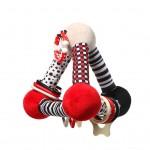 Edukačná hračka Baby Ono pyramída Tiny Yoga red