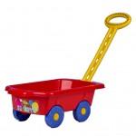 Detský vozík Vlečka BAYO 45 cm červený