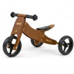 Detské multifunkčné odrážadlo bicykel 2v1 Milly Mally JAKE Dark Natural