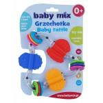 Detské hrkálka Baby Mix farebný trojuholník