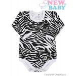 <p>Dojčenské body s dlhým rukávom celopotlačené New Baby Zebra</p>
